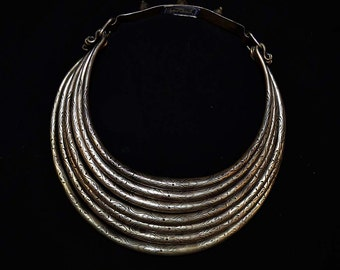 Old Hmong Silver Torque Necklace