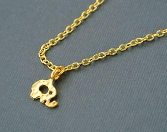 Tiny Gold Elephant Necklace, Gold Baby Elephant Jewelry, Lucky Elephant Necklace,Animal Necklace,Lucky Elephant Jewelry, Friendship Necklace