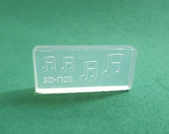 M42 Flexible Mold/Mould - 4 in 1 - Musical Notes for making Miniature Food / Doll House Deco / Jewelry Making /Nail Art