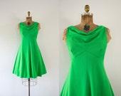 1970s Green Acres simplistic day dress / 70s garden party