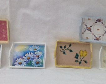 DOLLS HOUSE MINIATURES - 1/12th Hand Made Tray x1. (6 options)