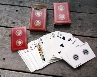 Playing Card vintage set of 2 decks Western Carloading Company Advertising Canasta Both decks complete and in good condition