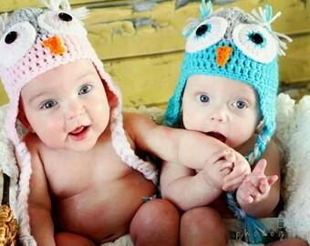 Crochet Owl Hat, Newborn Crochet Owl Hat, Toddler Crochet Owl Hat, Child Crochet Owl Hat, Adult Crochet Owl Hat