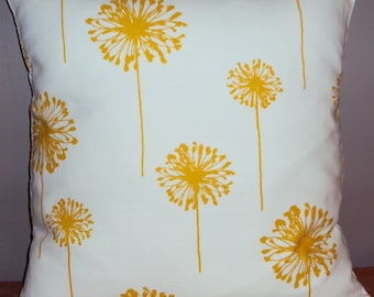 Yellow Dandelion Decorative Throw Pillow Cover - Available In 3 Sizes