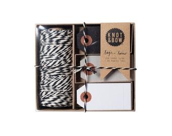 Tag + Twine Box / Black Natural Black