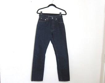 Levis 501 Dark Denim Blue Denim Size 26