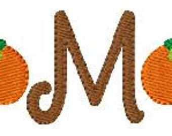 Pumpkin Fall Harvest Halloween Cute Mini Monogram Machine Embroidery Design Font Set Joyful Stitches // Joyful Stitches