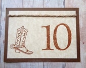 Country Western Wedding Table Numbers Cowboy Birthday Party