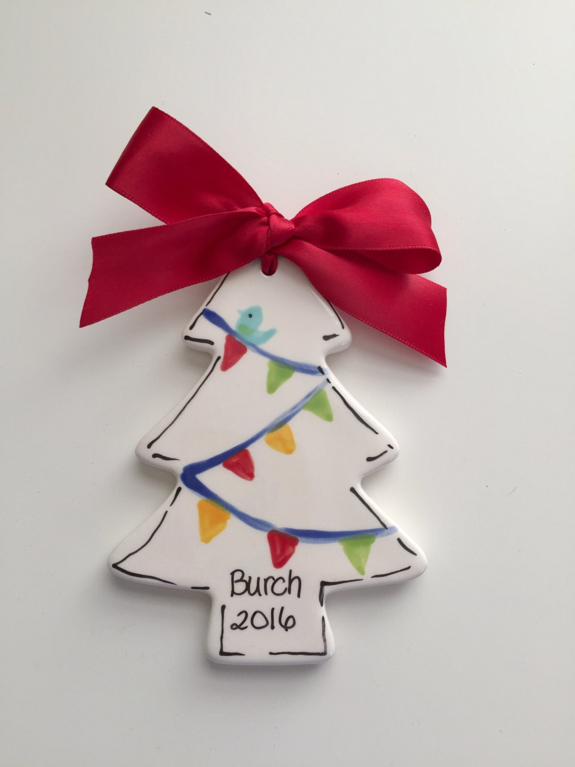 Personalized christmas tree ornament christmas tree for Custom christmas tree ornaments