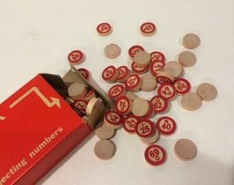 Vintage Bingo Game Pieces