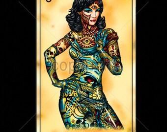La Dama The Woman Skull Womans Short Sleeve Top 17495