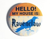 Harry Potter Buttons Geeky Accessories Ravenclaw Hogwarts Blue Plaid Pattern Apparel