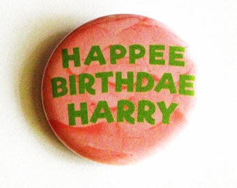 Happy Birthday Pinback Buttons Hagrid Cake Harry Potter Accessories Geeky Gifts