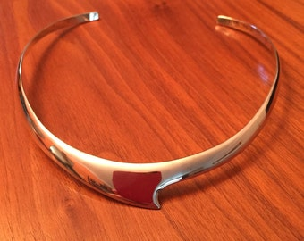 Modern preowned mexico sterling silver collar necklace