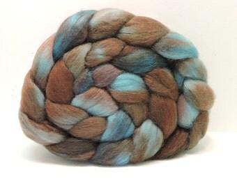 Handpainted Polwarth/Mohair/silk Top Spinning Fiber 4 oz