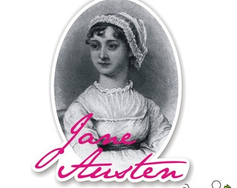 Jane Austen portrait bumper sticker