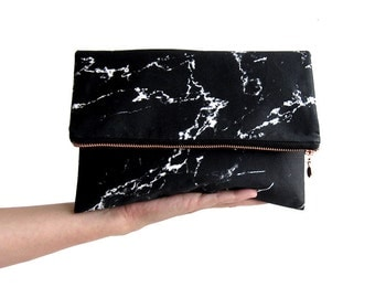 MARBLE clutch bag wristlet by renna deluxe