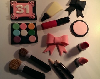 Fondant Makeup Cake Decorations