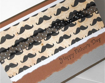 Fathers Day Greeting Cards:  Handmade Blank Note Card - The Barbershop Style No. 2