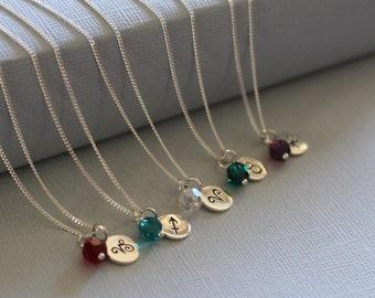 Zodiac Necklace, Sterling Silver Zodiac Jewelry, Bridesmaids Zodiac Gift, Personalized Gift, Sterling Silver Zodiac Necklace, Ask Questions