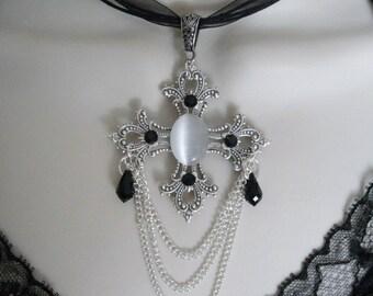 Renaissance Cross Necklace, renaissance jewelry gothic jewelry medieval jewelry victorian jewelry edwardian neo victorian tudor necklace