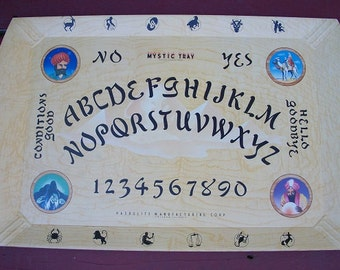 Vintage Very Cool Mystic Tray Board Game with Mystic Prophet Planchette and Original Box