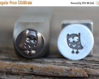 SALE Owl-Metal Stamp-7mm Size-Steel Stamp-New Metal Design Stamps-by Metal Supply Chick