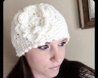 "CRAFT FAIR  SALE Crochet 5"" romance headband with flower"