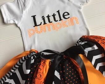 Baby Girl Pumpkin Costume - Girl Halloween Costume - Halloween Outfit - Pumpkin Costume - Little Pumpkin Outfit- Halloween Party