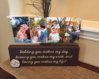 Personalized picture frame board unique nursery kids room decor Choose your quote and colors! Perfect for child's room, gift for new mom