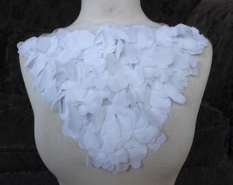 Cute embroidered chiffon  applique  white  color