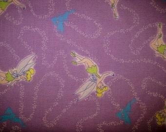 TINKERBELL Fabric, Cotton Fabric, 1 Yard, Purple Pixie Dust, tinkerbell, fairy fabric, pixie fabric, pixie dust fabric, by the yard fabric