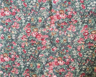 "Liberty tana lawn   printed in Japan Tatum In Grey 100cm or 1.1yards length by 110cm or 42"" wideth"