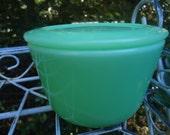 RESERVED LISTING Vintage McKee Jadeite Refrigerator Jar with Lid