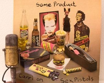 "ON SALE Sex Pistols SPOKEN Word Vinyl Record Album ""Some Product: Carri on Sex Pistols"" Sid Vicious (1979 English Import - Green/Red Virgin"