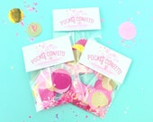 Mini Pocket Confetti Pouches for Bachelorette Kits Wedding Favors Birthday Parties and for everyday celebrations