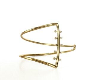 Asymmetry Cuff Bracelet