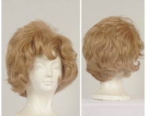 60s blonde bouffant vintage ladies wig curly teased beehive wig with bangs synthetic wig costume cosplay fantasy KaneKalon