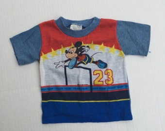 70s vintage Mickey Mouse baby tshirt 12 months ShirTees infant boy girl top