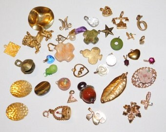 Vintage Wearable Jewelry charm pendant lot for wear or repurpose