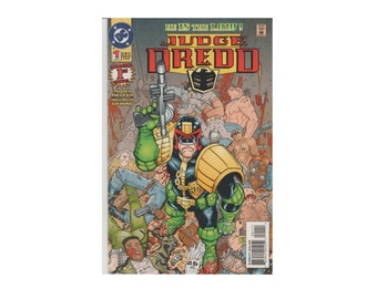 Vintage Judge Dredd: He is the Law. Number 1. 1st Issue. Andrew Helfer. Mike Avon Oeming. Comic Book. August 1994. DC Comics. Mint.