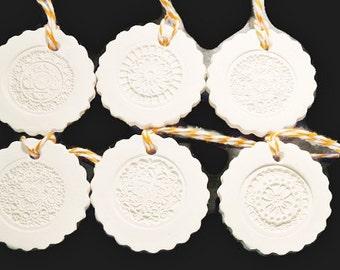 Ceramic Gift Tag or Ornament No6