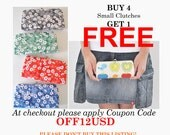 Buy 4 Small Clutches Get 1 Free COUPON CODE