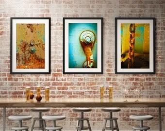 Wall Art, Rustic, Rust, Chain, Industrial, no32ARTology, Photography