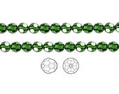Swarovski Crystal Beads Dark Moss Green 5000 Faceted Round 6mm Package of 12