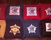 Police Fire 1st Responder cornhole bean bags Custom with your badge or star! Personalized corn hole game bags customized. Great gifts!.