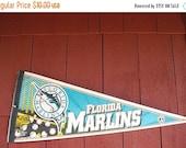 Florida Marlins Sport Pennant MAN CAVE  Sports Bar Kids Room