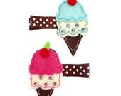 Sweet Treat Ice Cream Cone Hair Clips