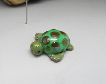 Sea Turtle - Lampwork Focal Bead