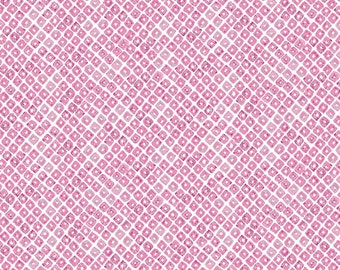 Light Fuchsia Brush Stroke Diamond Cotton Fabric, Lavish by Katarina Roccella for Art Gallery Fabrics, Seeds of Dahlia, 1 Yard